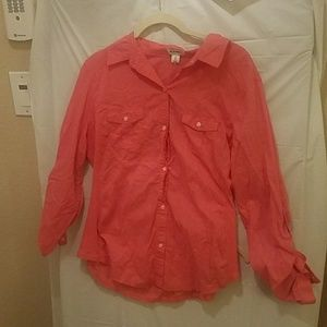 Old navy pink button down L